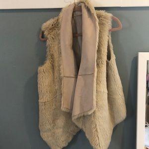 LOFT faux fur/suede vest